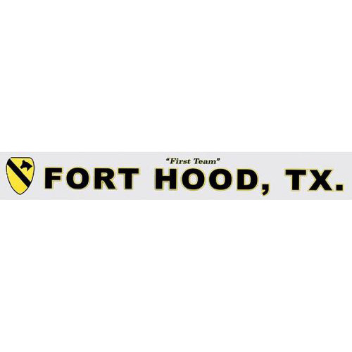 "U.S. Army Decal - 14.5"" - 1st Cavalry Ft. Hood"