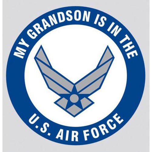 "U.S. Air Force Decal - 3.4"" - ""My Grandson is.."""