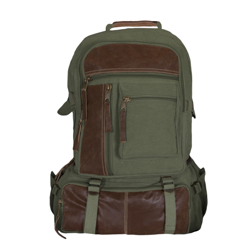 Classic Retro Cantabrian Excursion Rucksack w/Leather - 4 Colors