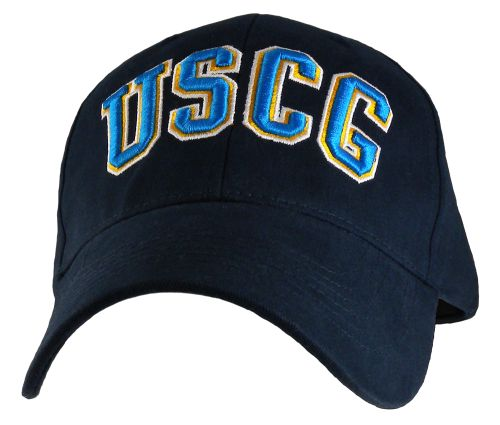 "USCG Ballcap - 3D Raised Letters - ""USCG"" Black"