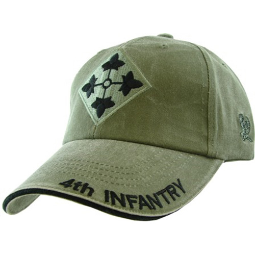 US Army Ballcap 4th Infantry Division - Olive Drab OD