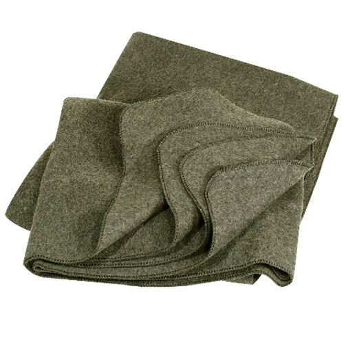 Blanket 80% Wool - Available in OD and Grey