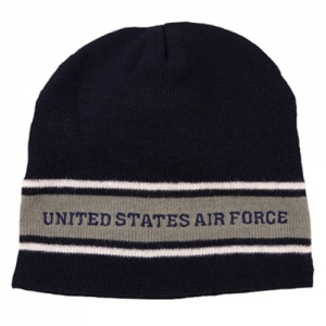 USAF Watchcap - Air Force Dark Blue with Grey Stripes