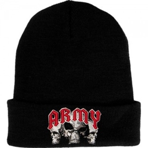 US Army Watchcap - With Embroidered Skulls