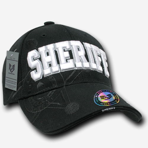 Shadow Law Enforcement Caps - Sheriff - Black