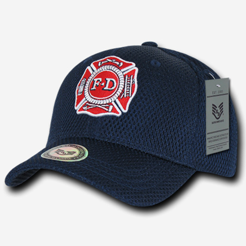 Air Mesh Public Safety Caps - Fire Department - Navy Blue