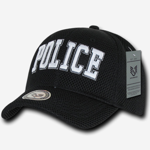Air Mesh Public Safety Caps - Police - Black