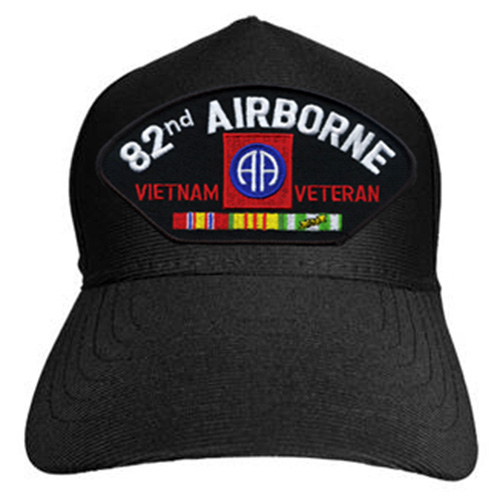 US Army ID Ballcap 82nd Airborn Vietnam Vat with Ribbons
