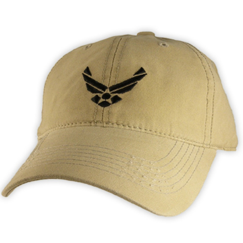 USAF Ballcap with Wings Emblem on Khaki