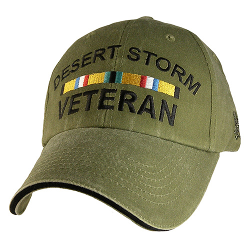 Veteran Ballcap - Desert Storm Veteran with 2 Ribbons