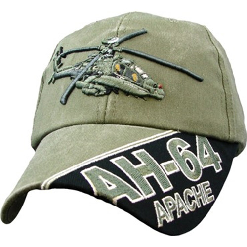 Assorted Ballcap - AH-64 Apache - Olive Drab