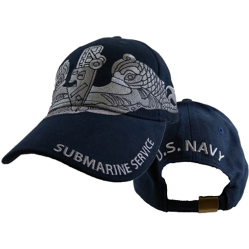 US Navy Ballcap - Submarine Service - Navy Blue with Embroidery