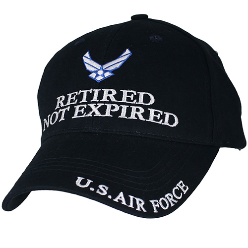 "USAF Ballcap Air Force ""RETIRED NOT EXPIRED"" Navy Blue Cap"