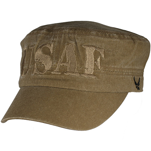 Flattop Cap USAF with Khaki and Coyote Tan Letters