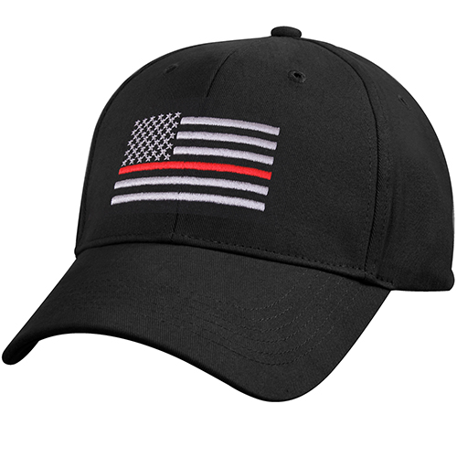 Assorted Ballcap - Firefighter Thin Red Line Flag Low Profile Cap