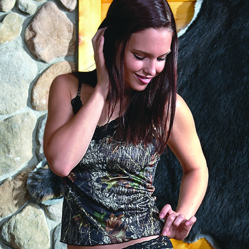 Camisole with Black Lace - Mossy Oak® Break-Up®