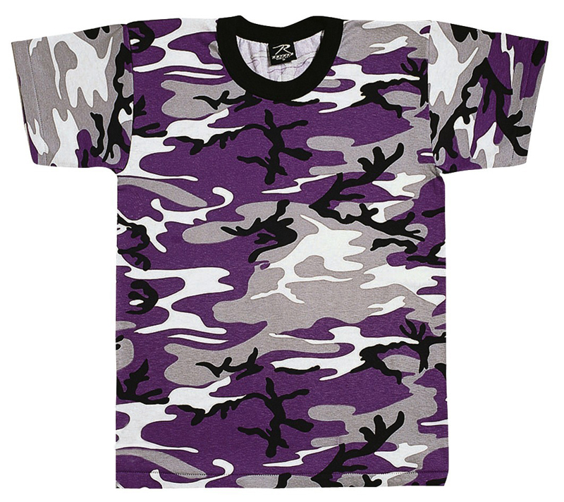 Violet Ultra Camo - Short Sleeve T-Shirt
