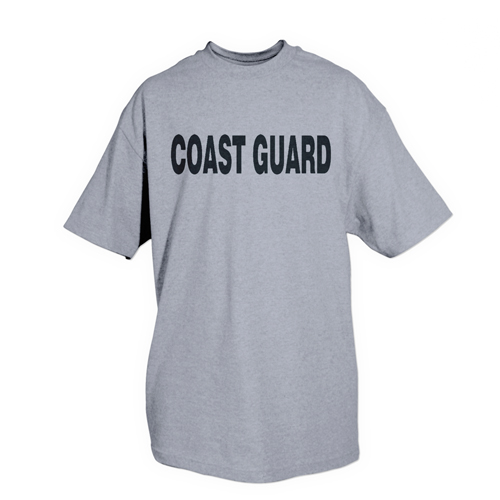 PT T-Shirt Coast Guard Grey Physical Training T-Shirt