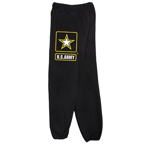 PT Sweatpants - US Army - Black with Star