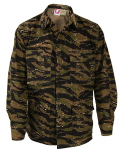 Genuine Gear BDU Shirt - Asian Tiger - 100% Cotton Ripstop