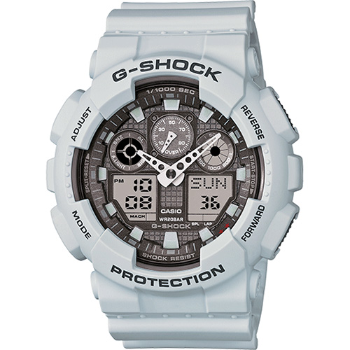 Casio G-Shock Big Case Digital-Analog GA100 Watch in Ice Gray