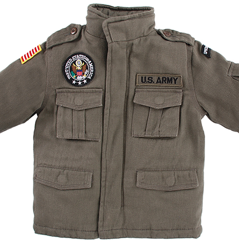 Kid's Jacket - Field OD with Patches