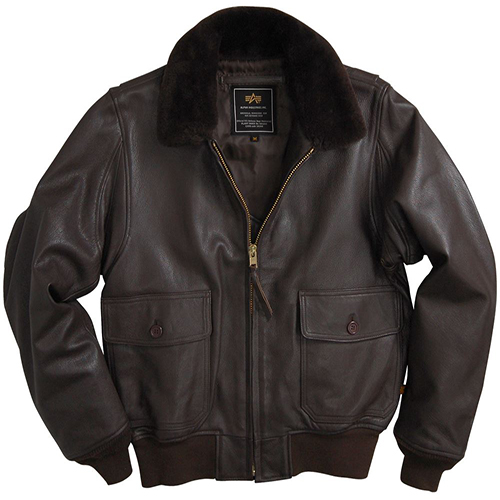 Leather G-1 Jacket - Brown