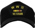 Veteran Ball Cap: WWII Veteran with 2 Ribbons