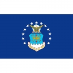 USAF Flag - 3' x 5' - Air Force - 1 Sided - Super Poly