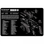 "TekMat Ruger SR9 Gun Cleaning Mat 11"" Wide x 17"" Long - Black"