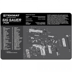 "TekMat Sig Sauer P229 Gun Cleaning Mat 11"" Wide x 17"" Long - Black"