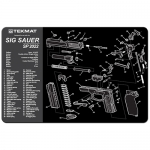 "TekMat Sig Sauer SP2022 Gun Cleaning Mat 11"" Wide x 17"" Long - Black"