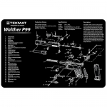 "TekMat Walther P99 Gun Cleaning Mat 11"" Wide x 17"" Long - Black"