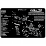 "TekMat Walther PPQ Gun Cleaning Mat 11"" Wide x 17"" Long - Black"