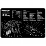 "TekMat Springfield Armory XDM Gun Cleaning Mat 11"" Wide x 17"" Long - Black"