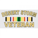 "Veteran Decal - 5"" x 2.5"" - ""Desert Storm Veteran"""