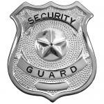 Security Guard Badge - Silver or Gold