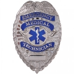 Deluxe EMT Badge - Silver