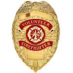 Deluxe Fire Department Badge - Gold and Silver