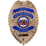 Deluxe Gold Bail Enforcement Agent Badge