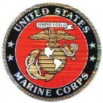 "U.S. Marines Decal - 12"" Round - USMC Seal - Large"