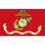 USMC Flag- Super Poly 3' x 5'   2 Side