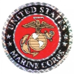 "U.S. Marines Decal - 3"" Prism - U.S.M.C. Seal"