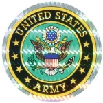 "U.S. Army Decal - 3"" Round Prism with Eagle"
