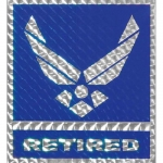 "U.S. Air Force Decal - 4"" - U.S. Air Force Retired"