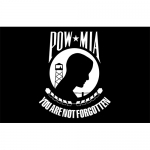 P.O.W. POW-MIA Flag- Embroidered 3' x 5'   2 Side