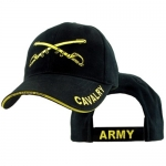US Army Ballcap - Cavalry with Crossed Swords - Gold on Black