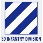 "U.S. Army Decal - 4"" Square - ""3D Infantry Div"""