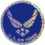 "U.S. Air Force Decal - 3"" Round - U.S. Air Force"