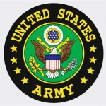 "U.S. Army Decal - 4"" Round - United States Army Decal with Eagle Crest"